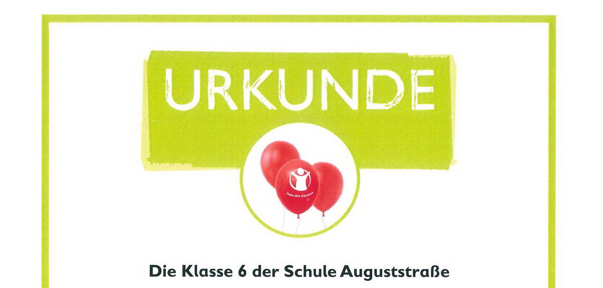 Urkunde save the children x